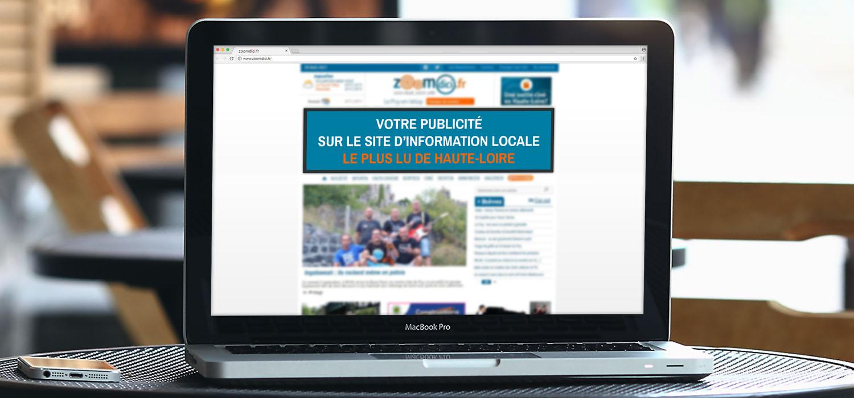 Régie publicitaire pour Zoomdici.fr Haute-Loire